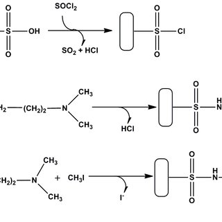 Modification of the CEM by chlorosulfonation (Reaction 1