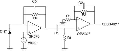 The circuit diagram for the low-frequency noise