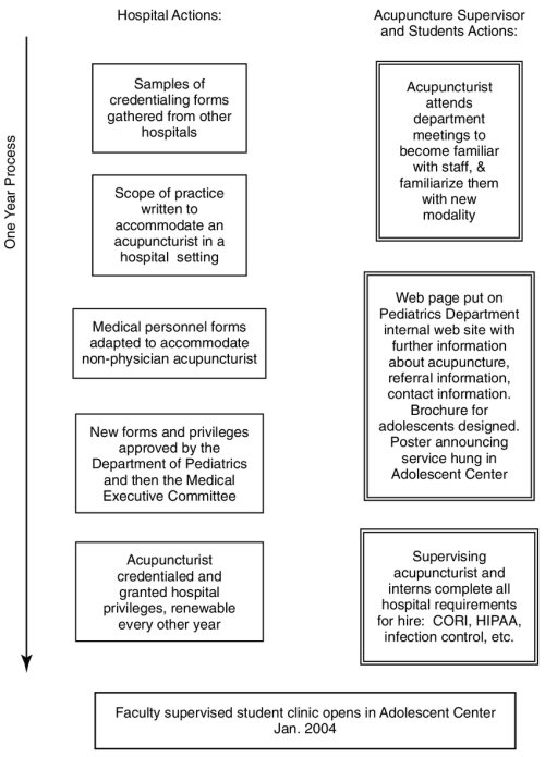 small resolution of overview of steps taken to establish a free care acupuncture clinic cori criminal offender