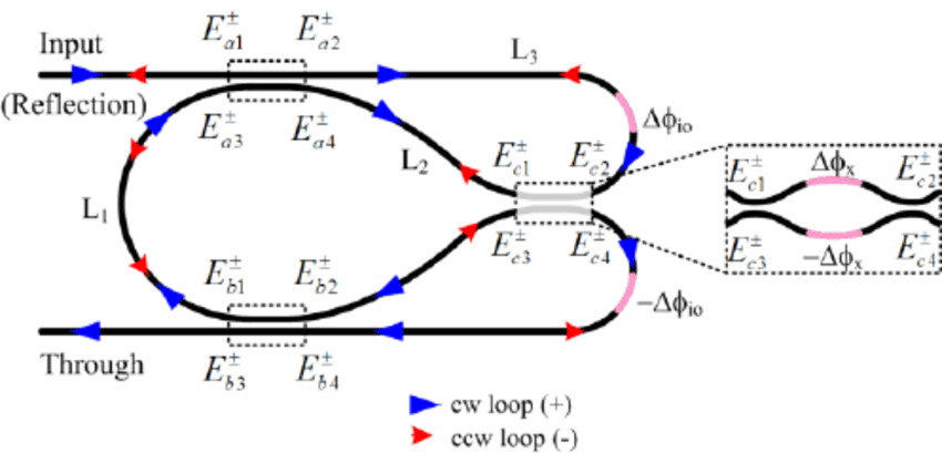 Schematic of the waveguide self-coupling based