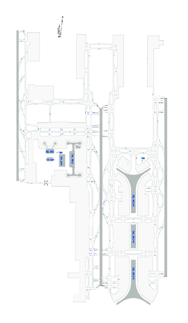 Beijing Capital International Airport Layout (source: CAAC