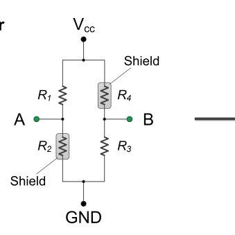 Circuit diagram of GMR sensor GF708. No bias voltage