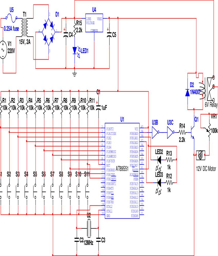 medium resolution of complete circuit diagram of an automatic school bell