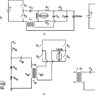 Ignition circuits reported in literature a Ignitor with