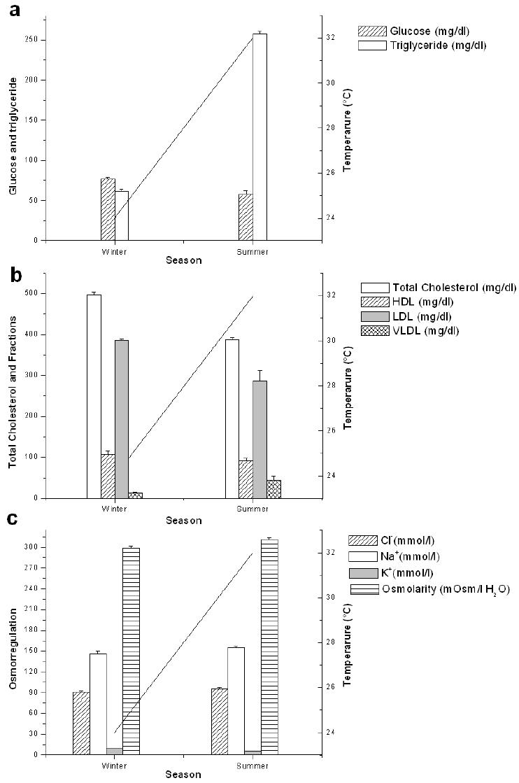 Secondary indicators of seasonal stress in the amazonian