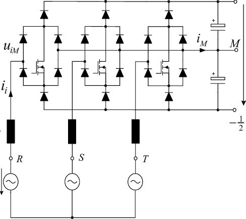 Basic power circuit structure of a three-phase, three