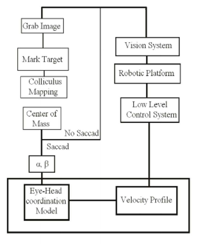 hight resolution of overall system architecture after traditional color edge detection the selected target is mapped in