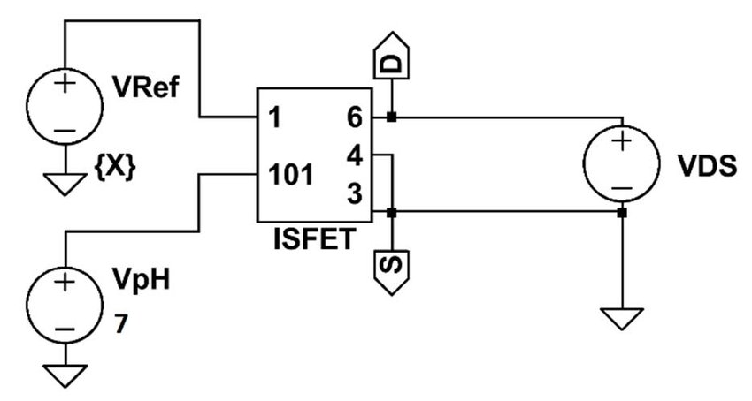 ISFET characterization circuit simulation in LTSpice IV