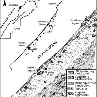 Geological section of the syncline of Essaouira (after