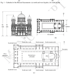 geometry of basilica of the blessed sacramento a west elevation b [ 850 x 940 Pixel ]