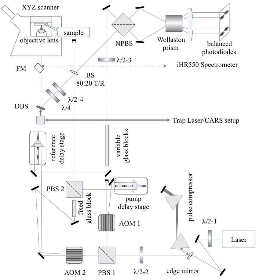 medium resolution of 10 a schematic of the fwm setup coupled into nikon ti u inverted microscope