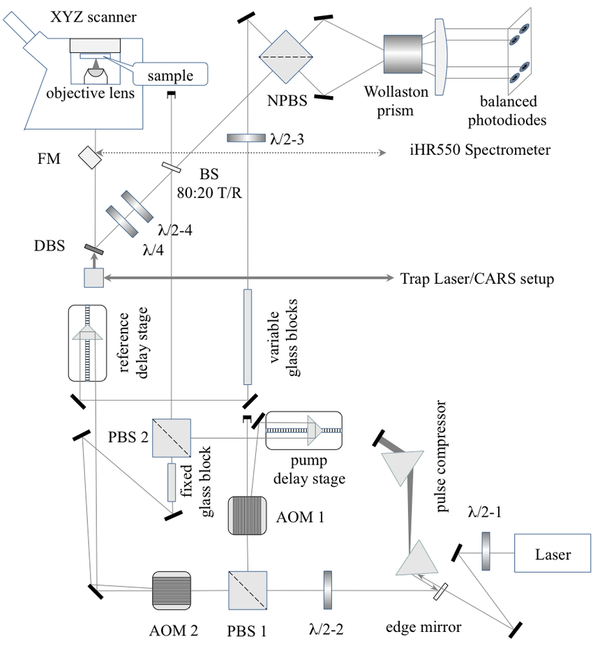 hight resolution of 10 a schematic of the fwm setup coupled into nikon ti u inverted microscope