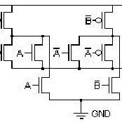And-Or-Invert Circuit: a) at the gate level, b) CMOS