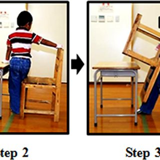 step 2 chair korum fishing wheel kit task 1 carrying a distance of 3 m start position turning upside down starting