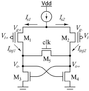Circuit diagram of the AFGC with pFET input floating