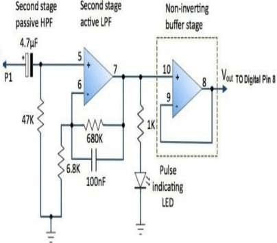 Second Stage Signal Conditioning Circuit A high frequency