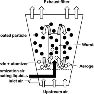 Schematic diagram of the Wurster coating process in the