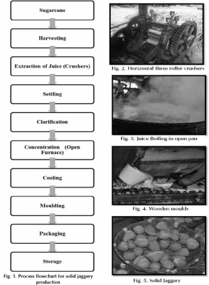 Process flowchart for solid jaggery production | Download