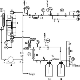 Schematic diagram of the reactor design: (PI) pressure