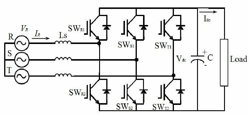 3 phase bridge rectifier circuit diagram