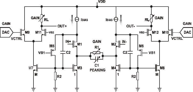 VGA2 circuit diagram. differential voltage applied between