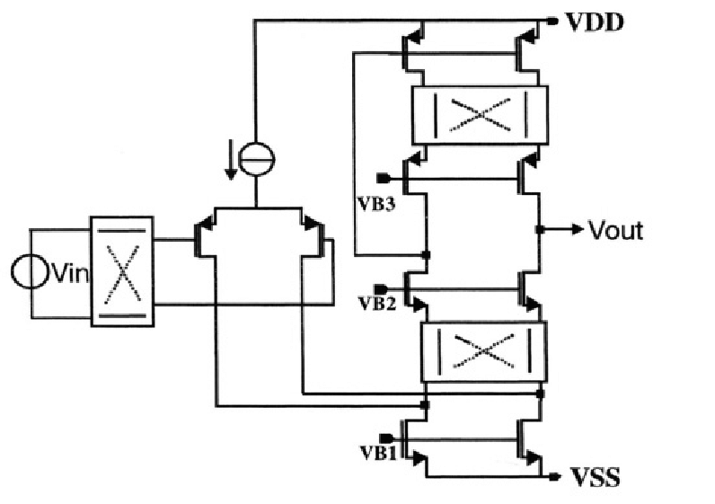 10 illustrates the circuit diagram. The input chopper M10