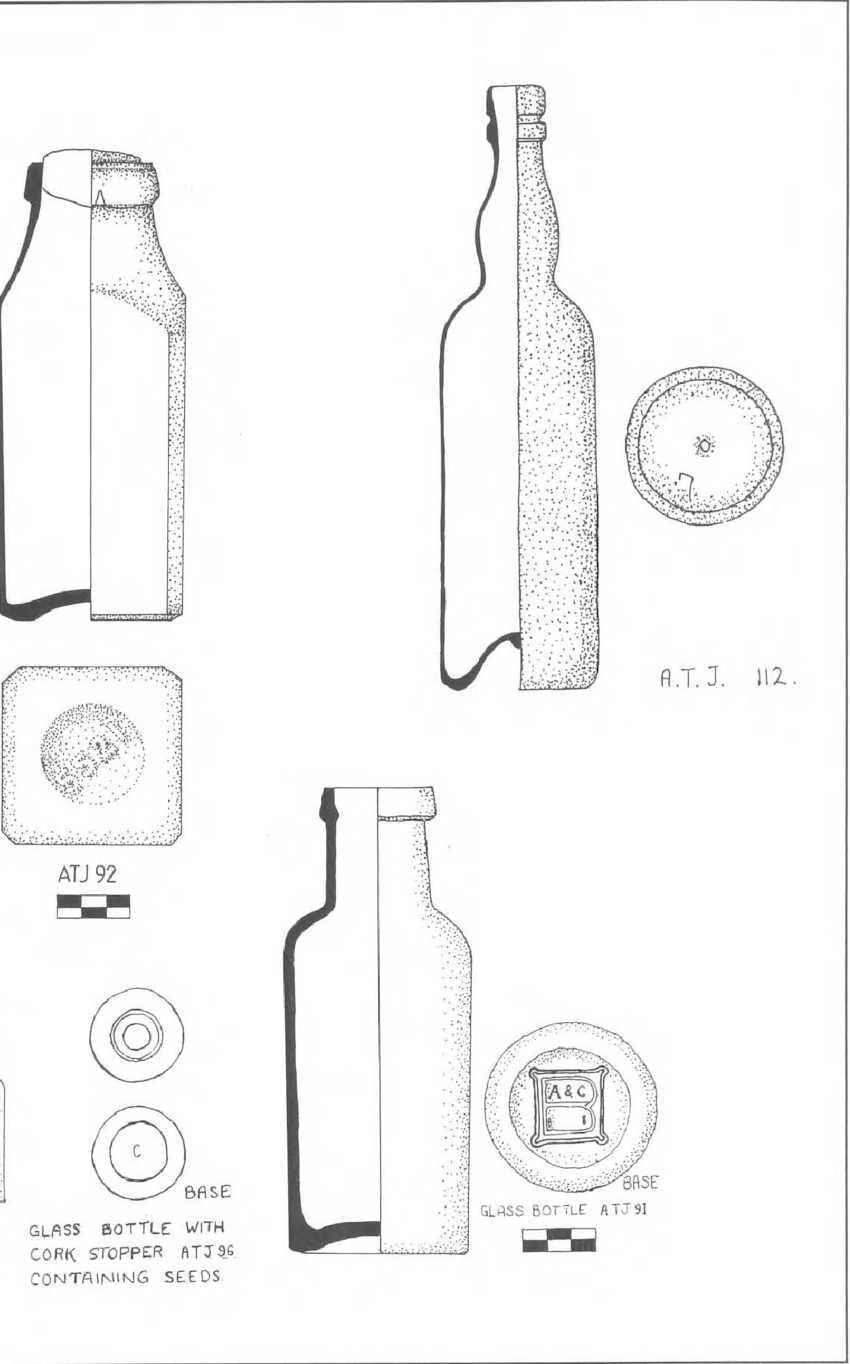 Glassware recovered from the Albany T own Jetty. (Nikki