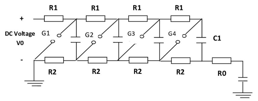 Equivalent circuit of Multi-stage impulse generator