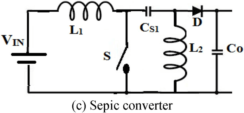 Circuit diagrams of boost, voltage multiplier and sepic