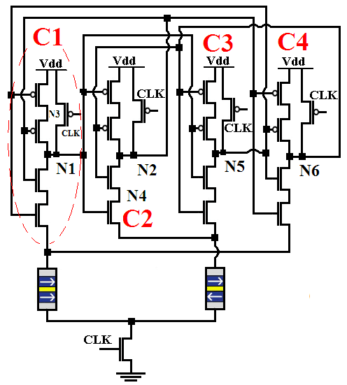 Our proposed SEU-tolerant13T M-latch circuit Fig.6. Our