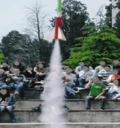 launching a model rocket [ 850 x 1265 Pixel ]