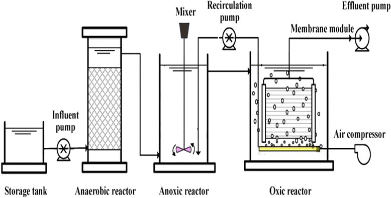 Schematic flow diagram of the experimental apparatus