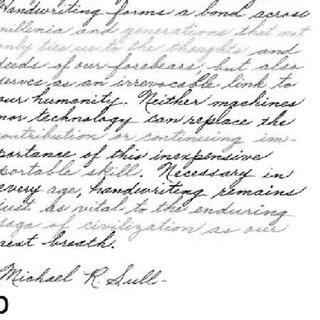 Segmentation results on a cursive English handwritten