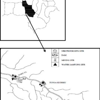 Schematic map of Zamfara State, Nigeria showing Bagega