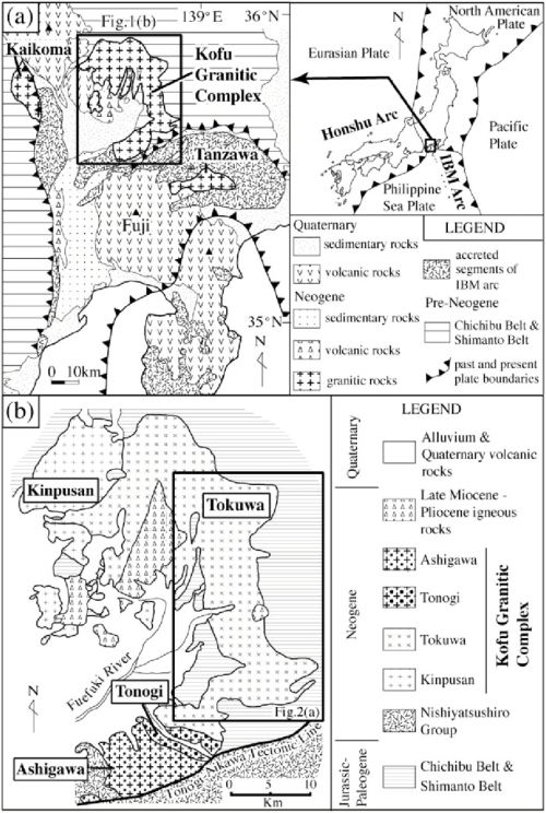 small resolution of  a geological map of the izu collision zone modified after takahashi saito