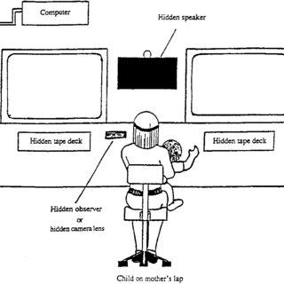 Diagram of the intermodal preferential looking paradigm