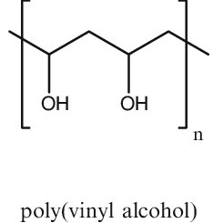 Repeating units of poly(vinyl acetate), poly(vinyl alcohol