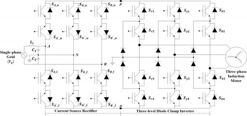 Single-phase to Three-phase Multilevel Matrix Converter