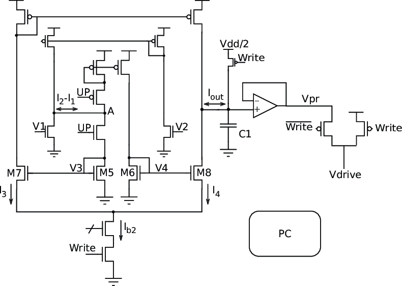 The Programming Circuit (PC) block used to generate the
