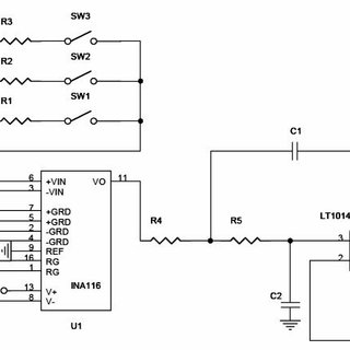 Circuit diagram for a single-channel differential