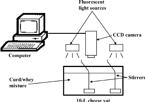 Schematic of computer vision system coupled to the cheese