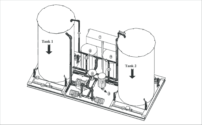 CAD drawing of the constructed biotrickling filter. Full
