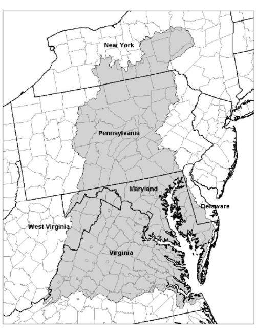 small resolution of the chesapeake bay watershed