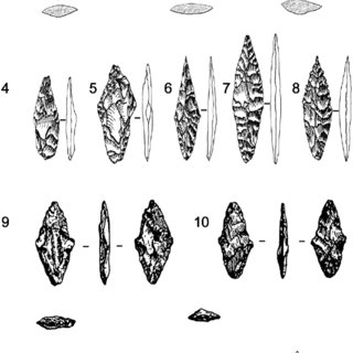 Similar projectile points types from different sites of