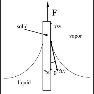 Schematic standard wetting curve. (A) Immersion; (B) point