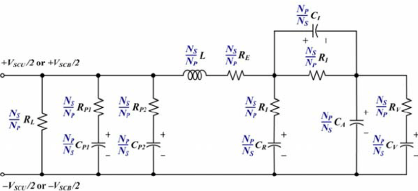 Advanced equivalent electric circuit model of the super
