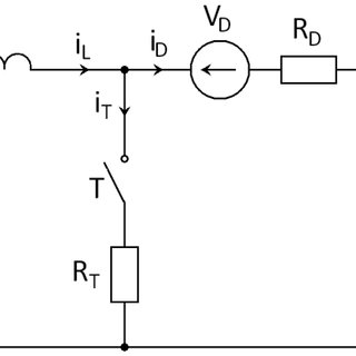 An ideal step-down converter (BUCK) consisting of ideal