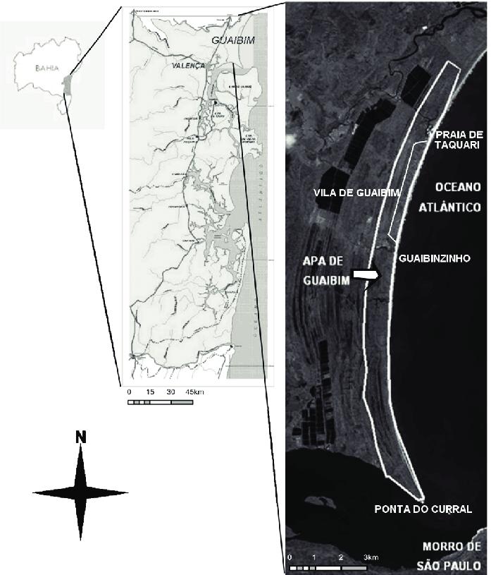 Localização geográfica da Área de Proteção Ambiental (APA