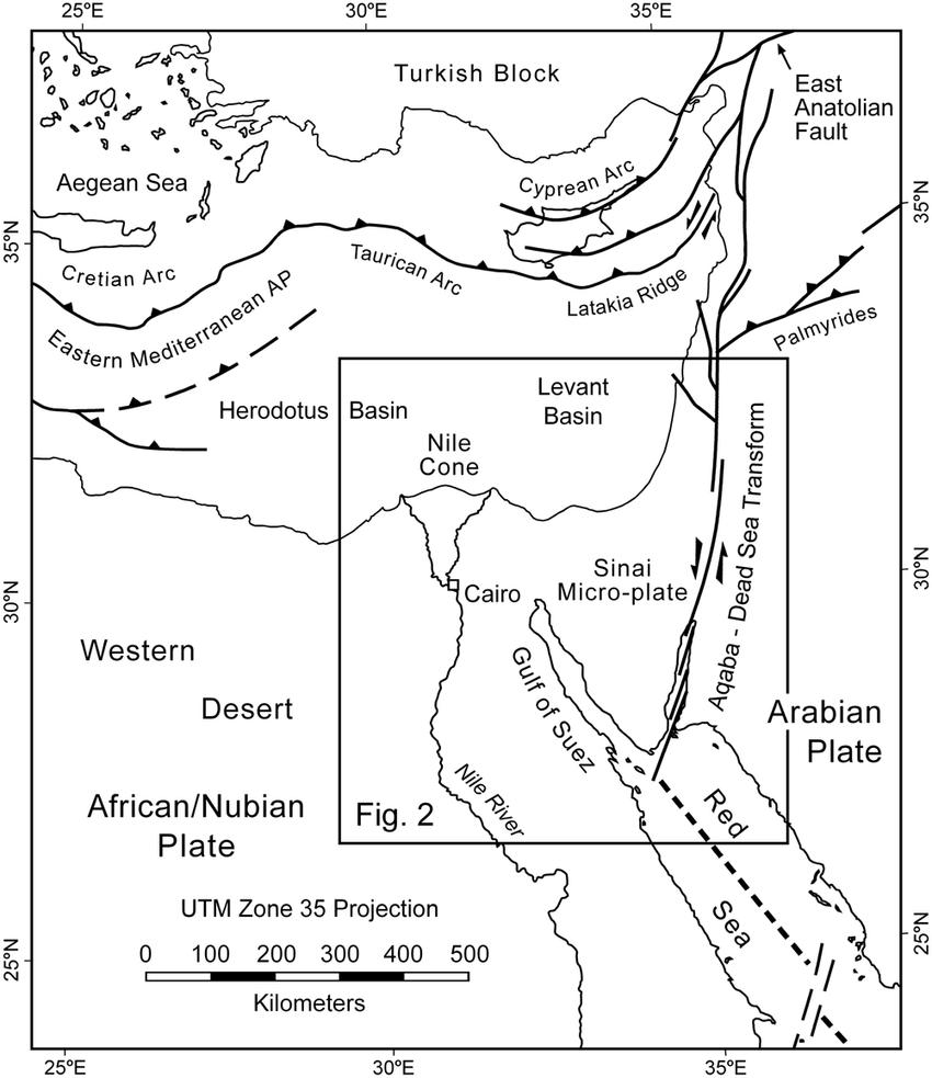Tectonic setting of the Gulf of Aqaba