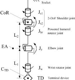 kinematic model of the 5 dof upper limb prosthesis types of joints diagram of different joints [ 850 x 930 Pixel ]